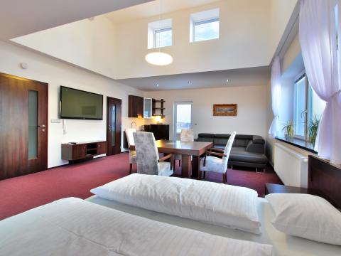 2 lůžkový apartmán s terasami a výhledem